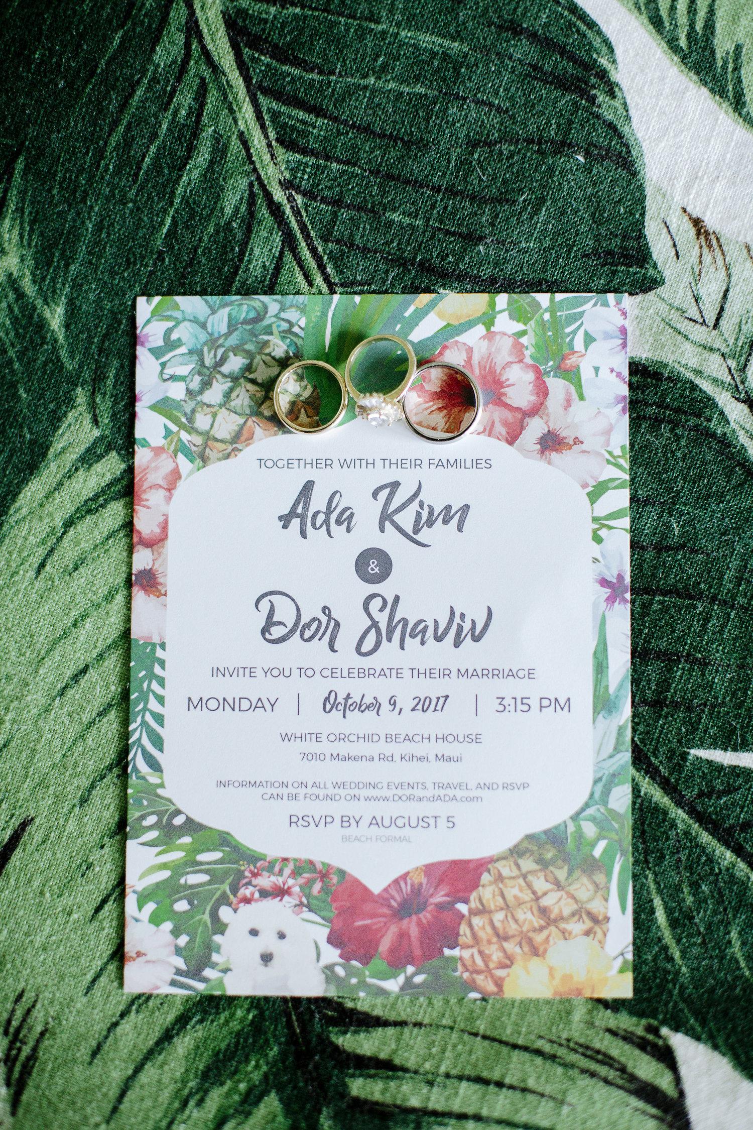 Ada Dor White Orchid Wedding
