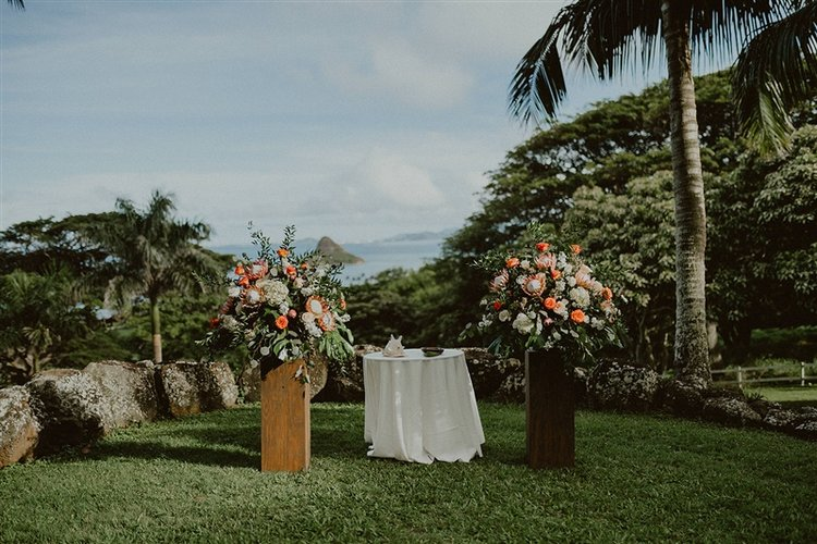 Kualoa Ranch Wedding White Orchid Wedding
