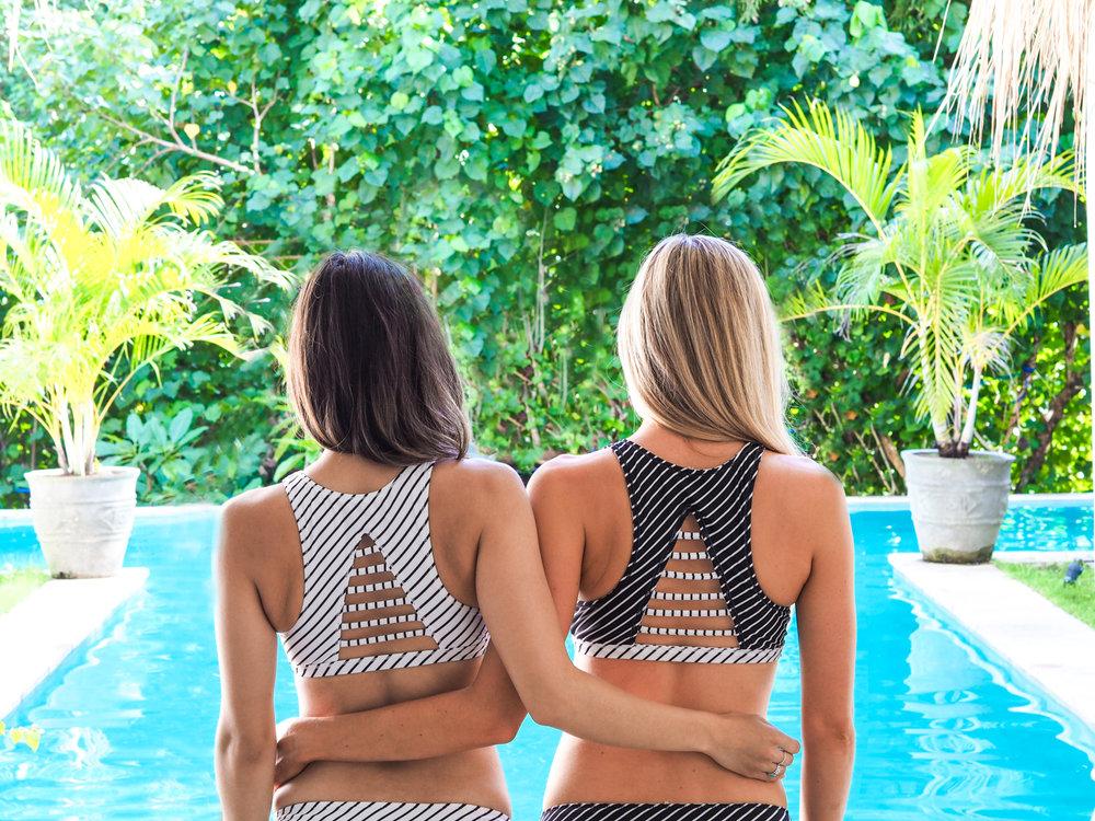 athleta reversible bikini - canggu