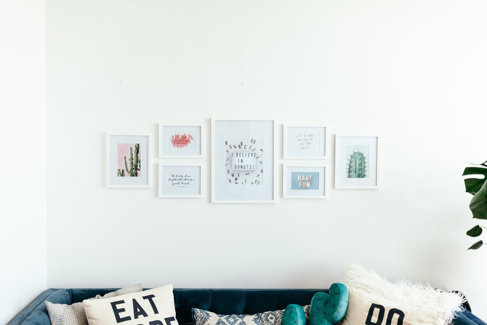 work from home space - gallery wall