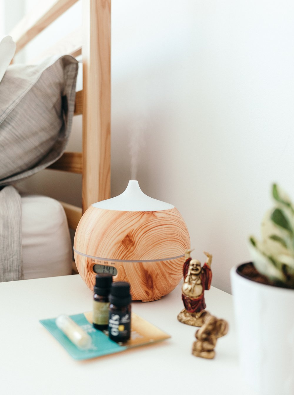 work from home space - oil diffuser