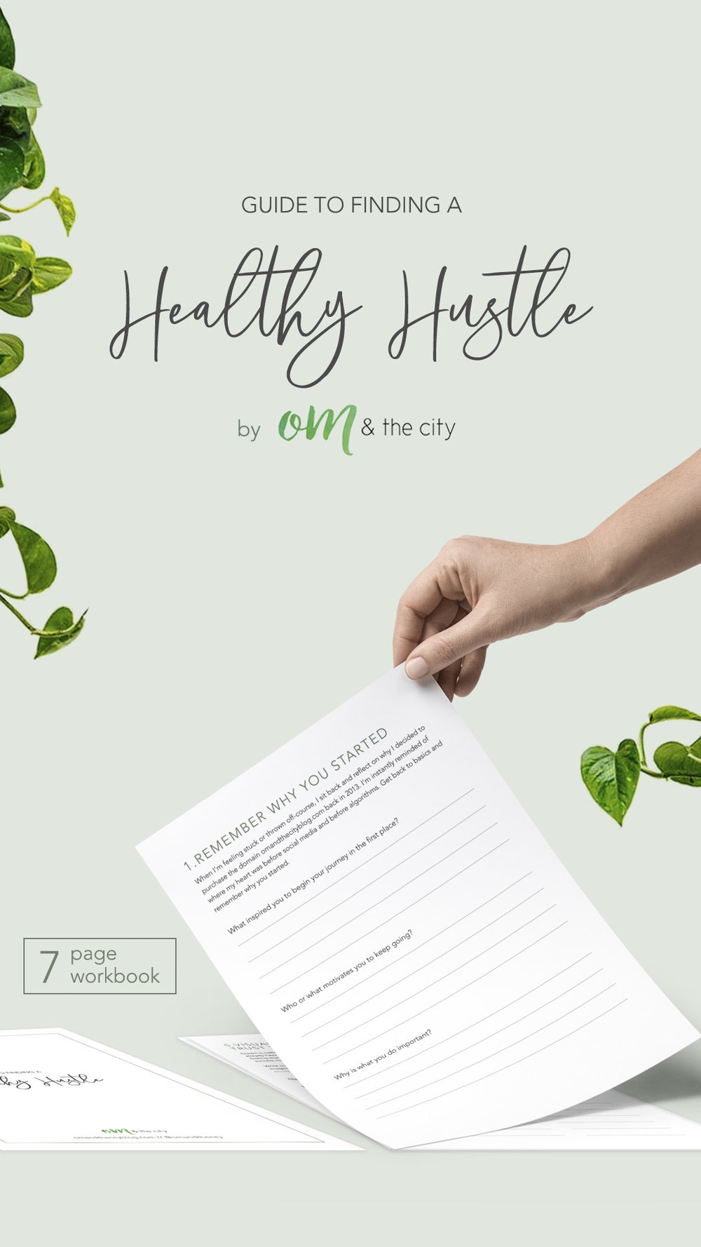 Finding a healthy hustle | Learn how to design your own healthy hustle so you can create abundance while doing what you love and practicing good self-care – FREE download included. | Om & the City Blog #OmAndTheCity #entrepreneur #healthyhustle #worklifebalance #girlboss #solopreneur #lifegoals #lifestyledesign #selfcare #abundance