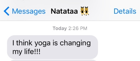 yoga is changing my life