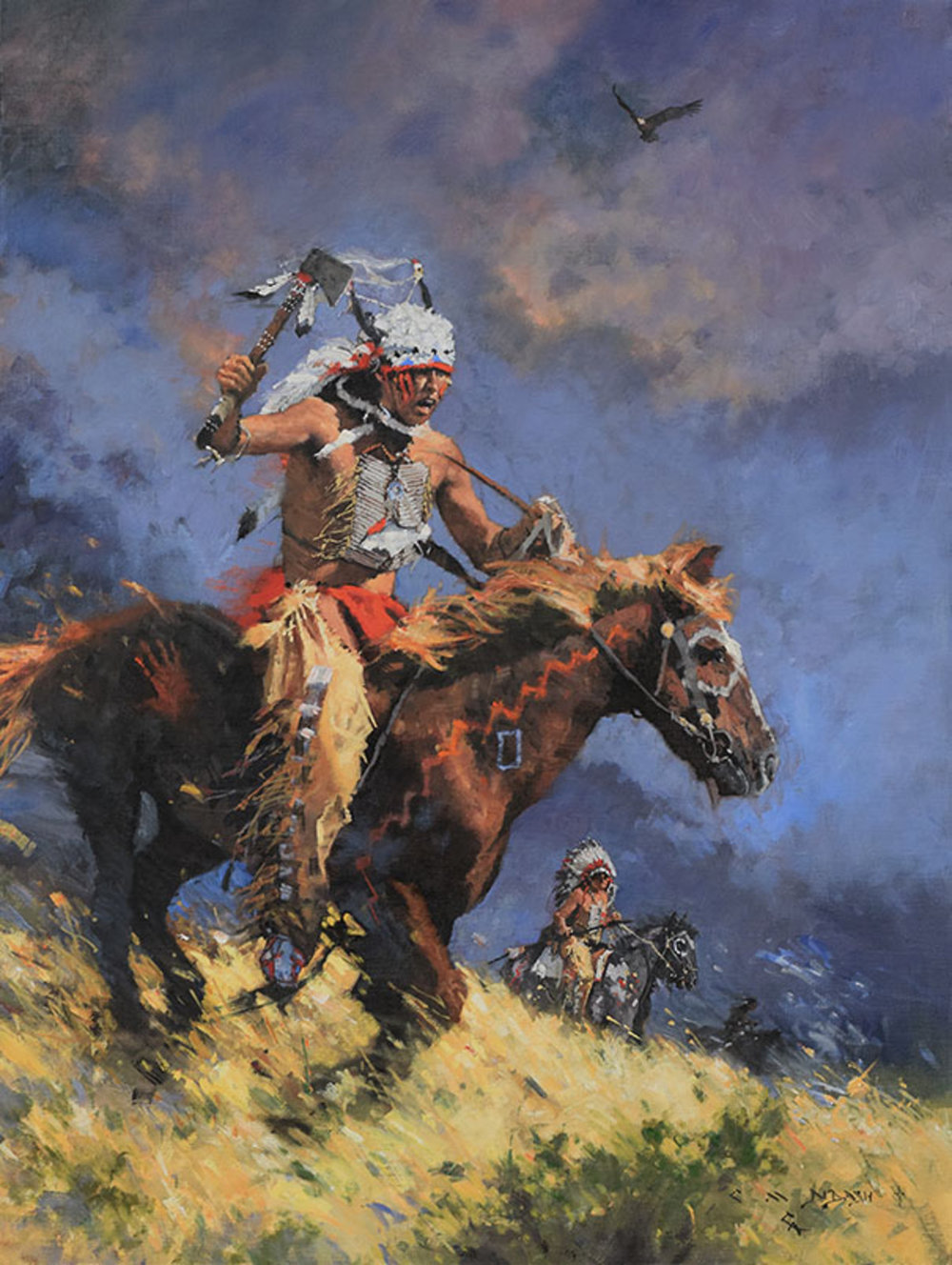 """*****SOLD*****  """"THE FEARLESS ONE"""" Oil on Linen 32"""" x 24"""" SOLD at  The Buffalo Bill Art Show and Sale"""
