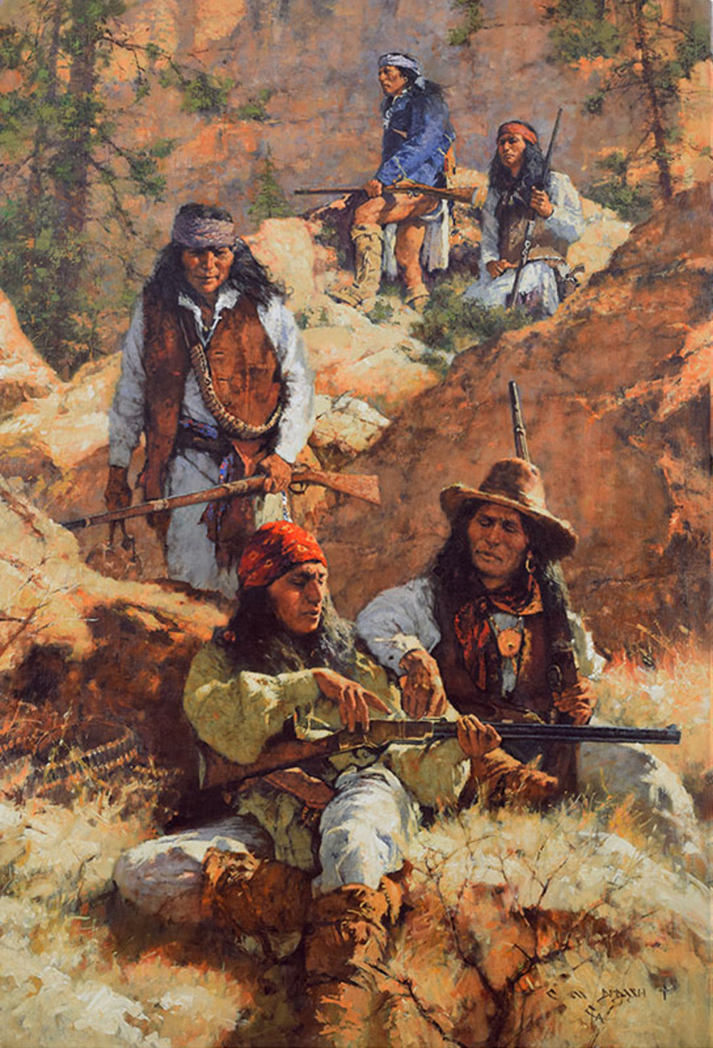 """*****SOLD*****  """"A BAND OF BROTHERS, A BROTHERS NEW HENRY"""" Oil on LInen 56"""" x 38"""" Sold at Cowboy Artists Of America - Cowboy Crossings 2017"""