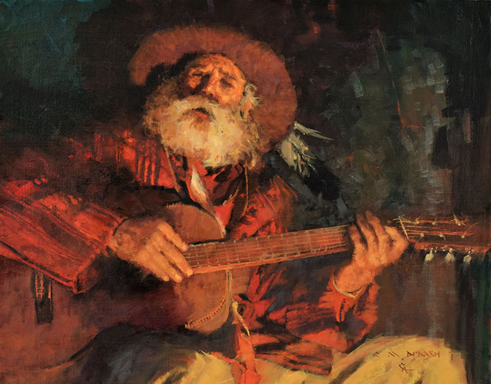 """*****SOLD***** """"SINGIN' THE COAL MINER BLUES"""" - oil on linen - 16"""" x 20"""""""