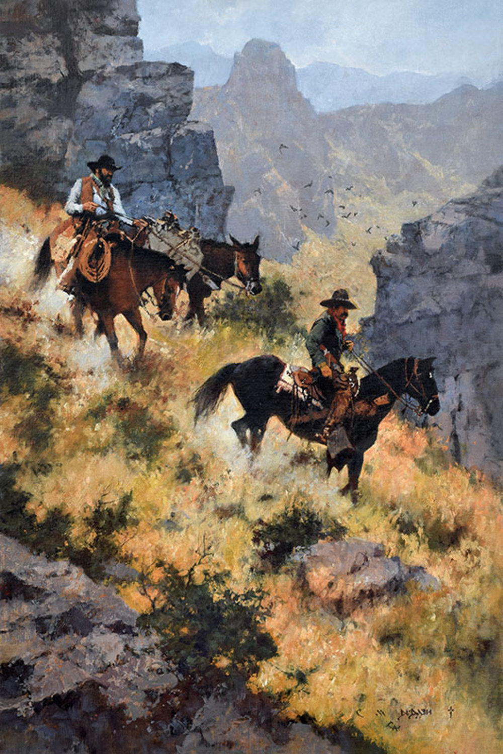 """TRAILIN' DOWN EASY"" - oil on linen - 30"" x 20"" SOLD"