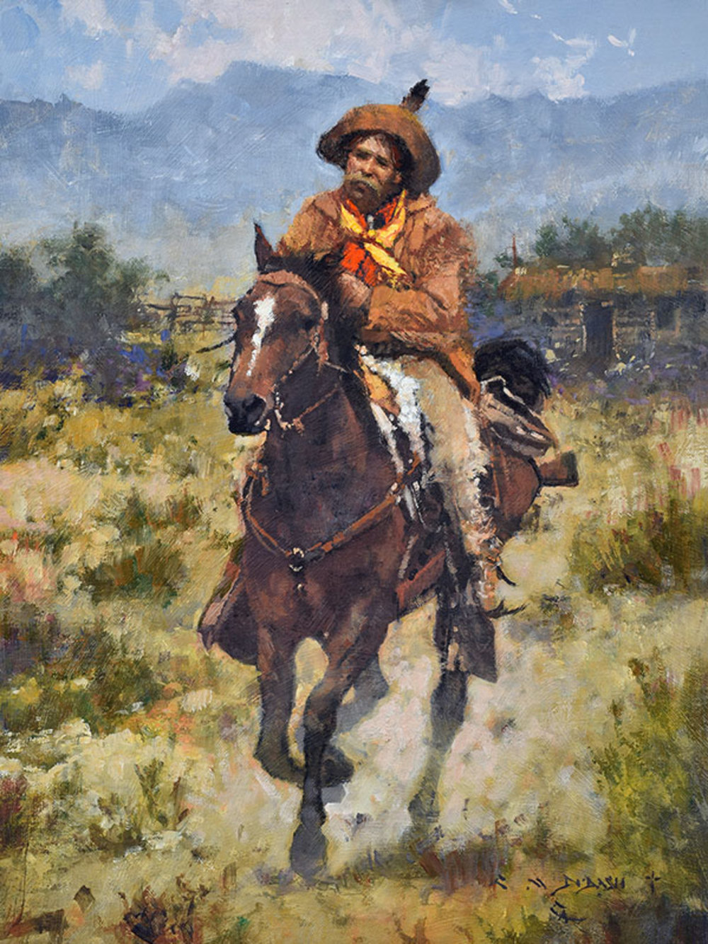 """""""HE LIVED ALONE IN THE HIGH COUNTRY"""" - oil on linen - 16""""h x 12""""w SOLD"""