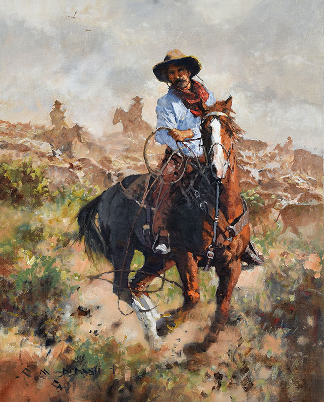 """WORKIN' AT WHAT HE LOVED""  Oil on Linen  20"" x 16""  SOLD"
