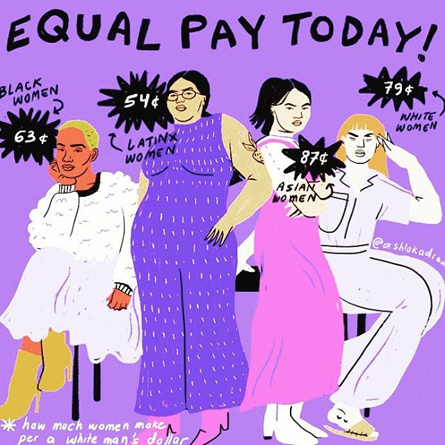Yesterday, today, tomorrow & every damn day.  #latinaequalpay