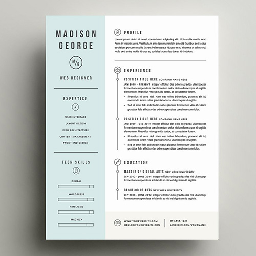 girlboss.com - This template is great for when you want to show a clear common thread or timeline with your past jobs, experiences, or skills. This résumé also allows you to go in depth, add design elements, and clearly separate different categories. It's great for all fields.