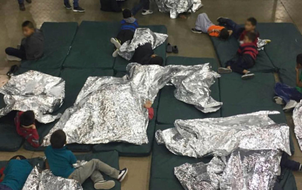 this is where children are asked to sleep at the U.S./Mexico border