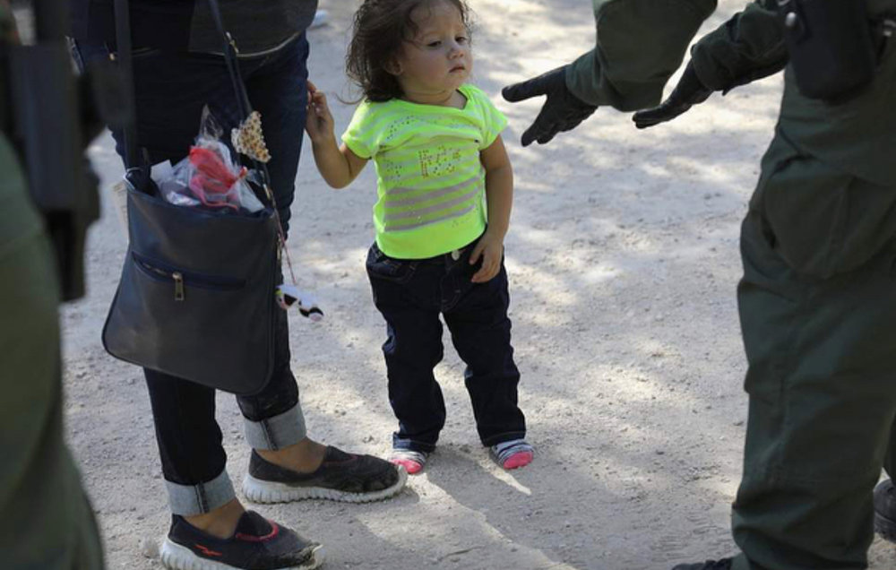 a child is approached by ICE