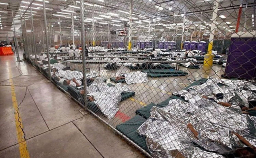 the area where children are held after being separated from their families at the border