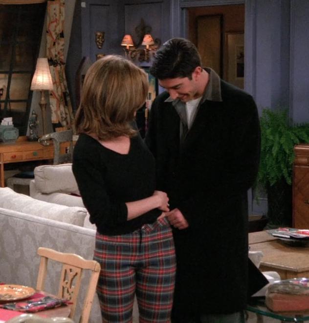 rachel plaid pants