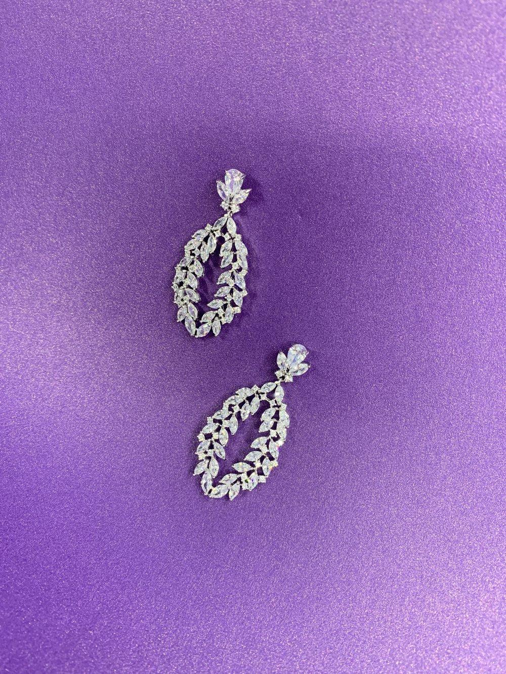 Aritos para novia - En plata 925 y zirconias
