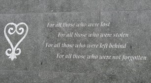 Inscription at African Burial Ground