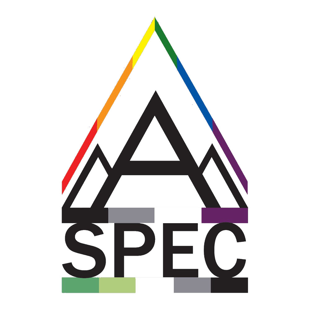 A-SPEC is for people who identify along the asexual or aromantic spectra or who are questioning and advocate for the communities' increased visibility and to establish a peer social support network for members.