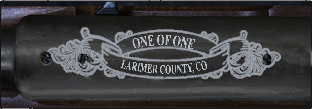 """Edition number """"One of One, County, and State will be engraved on top of the metal receiver."""