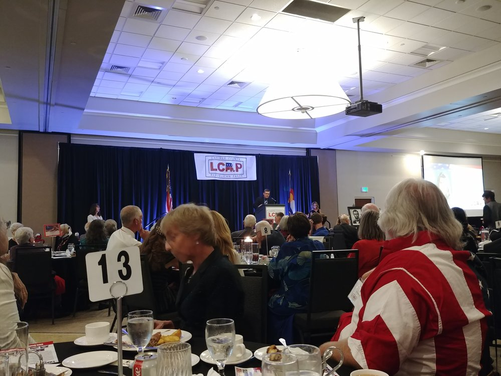 Helping the Larimer County Republican Party - Lincoln Day Dinner