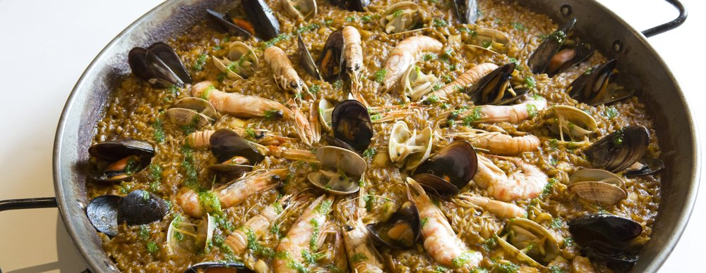 Paella de Peix Fish of the Day Cuttlefish Mussels Clams prawns.jpg