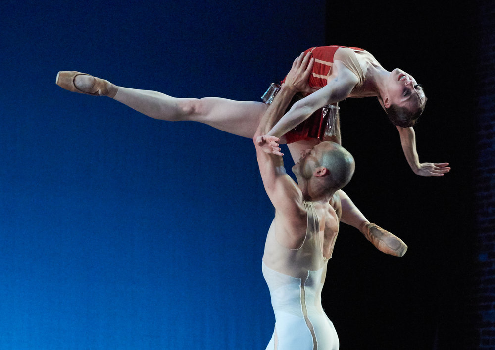 "Dancers:  Dana Benton and Brandon Freeman  in ""Traveling Alone"" 