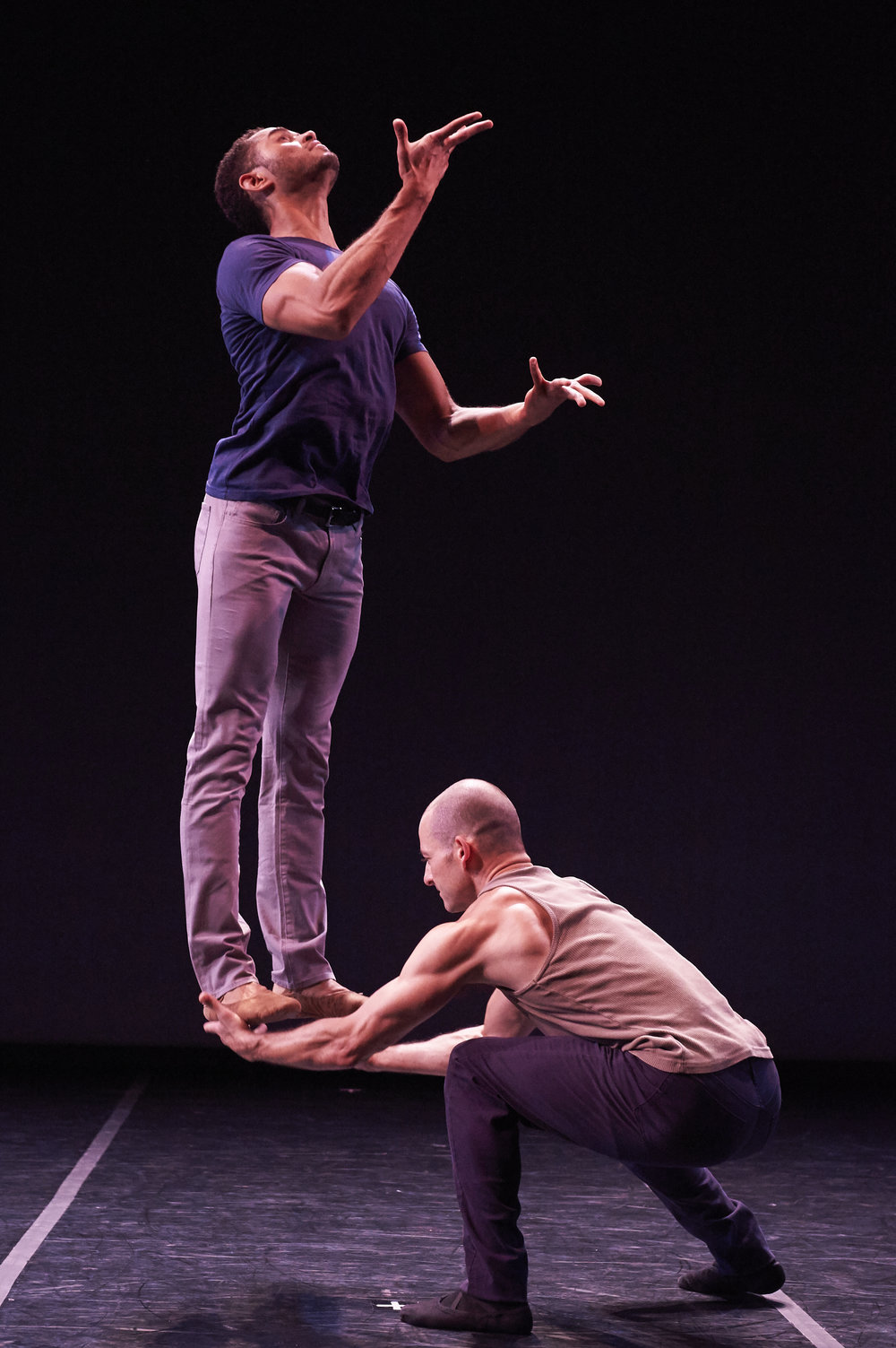 James Gilmer and Brandon Freeman in Starting Over At the End Photo by David DeSilva.jpg