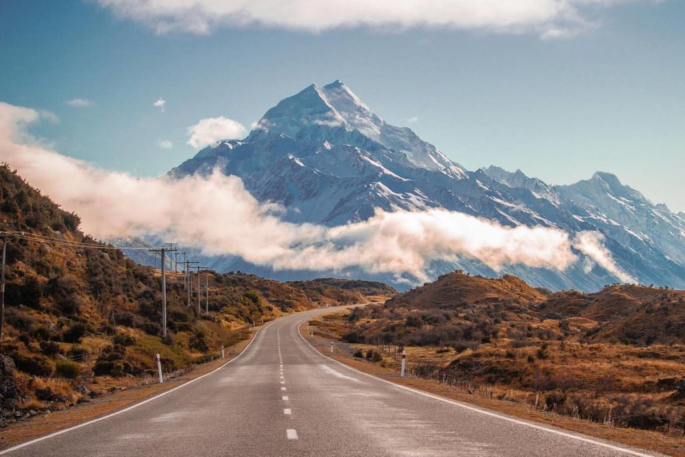Mount Cook, South Island of New Zealand.