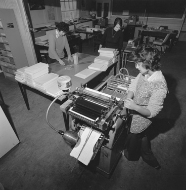 Printing Press Operations, 1972, Stevenson, Kinder & Scott Corporate Photography, State Library of WA 360886PD
