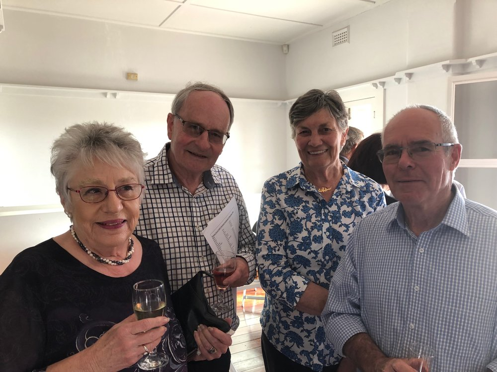 l-r Pamela Statham-Drew, Nick Drew, Sue and Tim Graham-Taylor (photographed by Pam Harris)