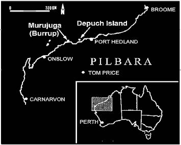 Caption: Location map of the Burrup (Murujuga)