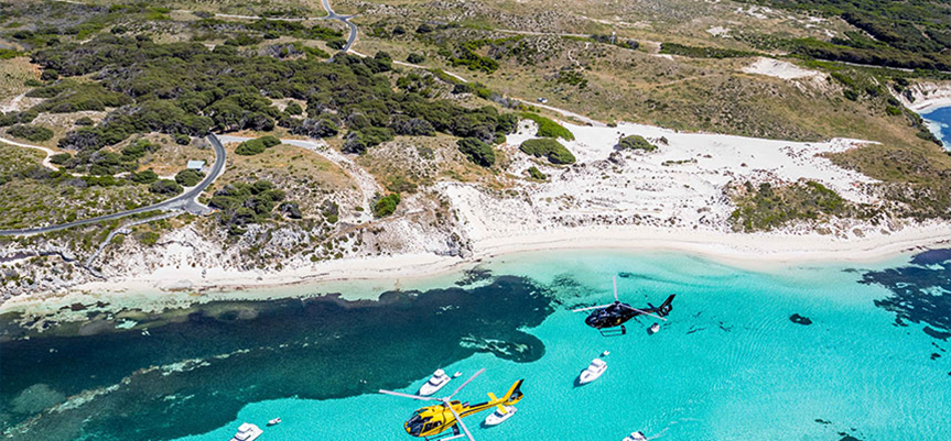 Private Transfers - Take a helicopter ride from Perth to Rottnest where your luxury charter boat will await you for an unforgettable day on the island.