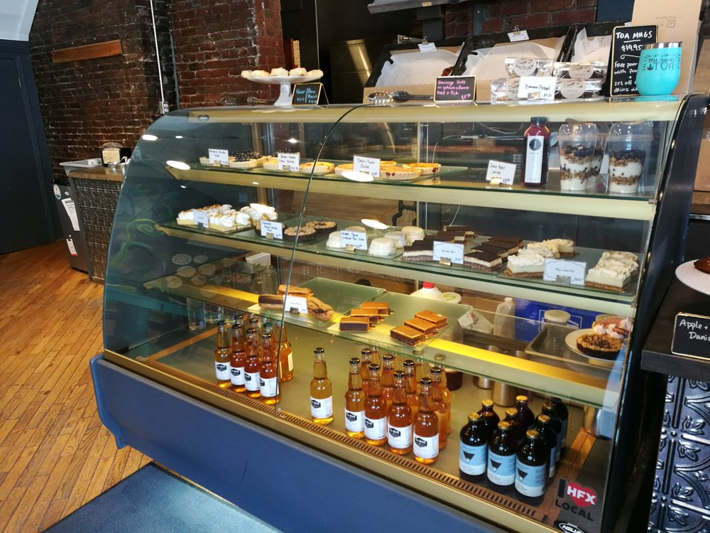 sweet selection at the Apothecary cafe and bakery
