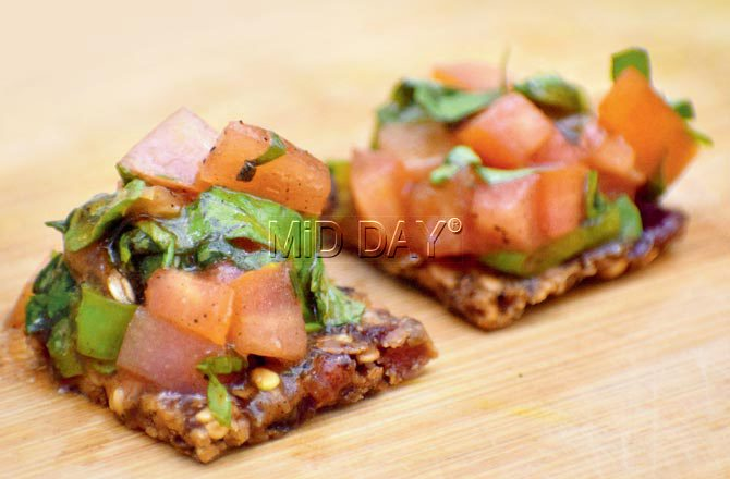 Bruschetta cracker. Pic/Ashish Raje