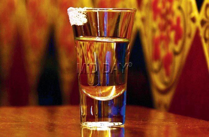 Tequila shot. Pic/Suresh Karkera