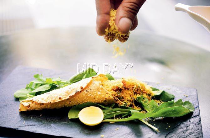 Roasted masala papad. Pic/Sameer Markande