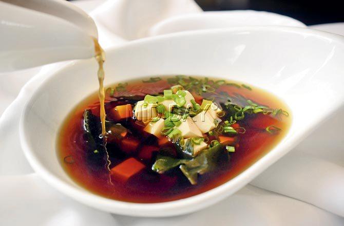 Miso soup. Pic/Sameer Markande