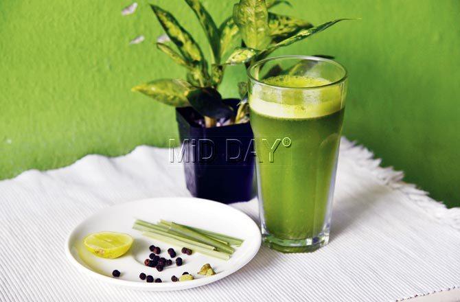 Lemongrass cooler. Pic/Pradeep Dhivar
