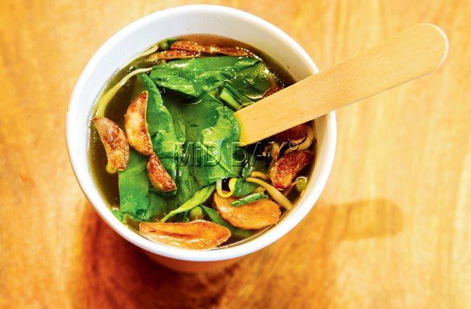 Asian exotic vegetarian soup. Pic/Atul Kamble