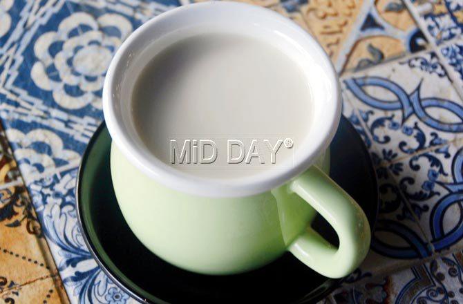 Almond milk. Pic/Sneha Kharabe