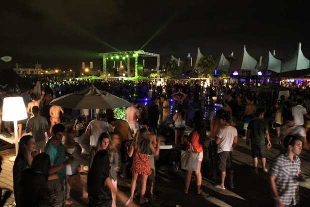 PARTY EVERY DAY: Revellers at Parador P12 in upmarket Jurere, Florianopolis, Brazil [APINO]