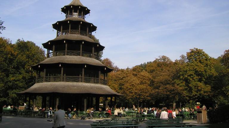 Chinese Tower ad beer garden in the English Garden   © Jan Beckendorf / Flickr