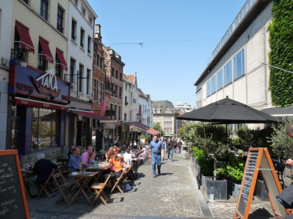 The Sablon district, Brussels