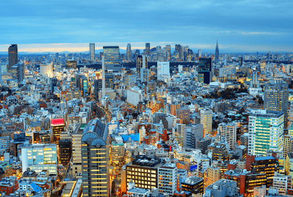 The beautiful Tokyo skyline, full of promise!