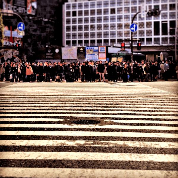 The iconic Shibuya Crossing (aka Shibuya Scramble)
