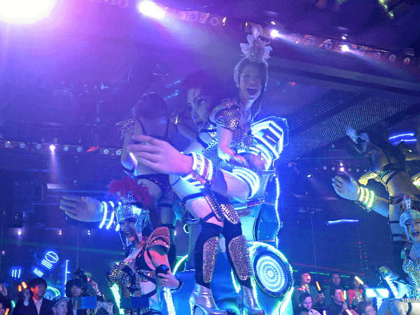 Scene from the infamous Robot Restaurant, in Shinjuku's Kabukicho district