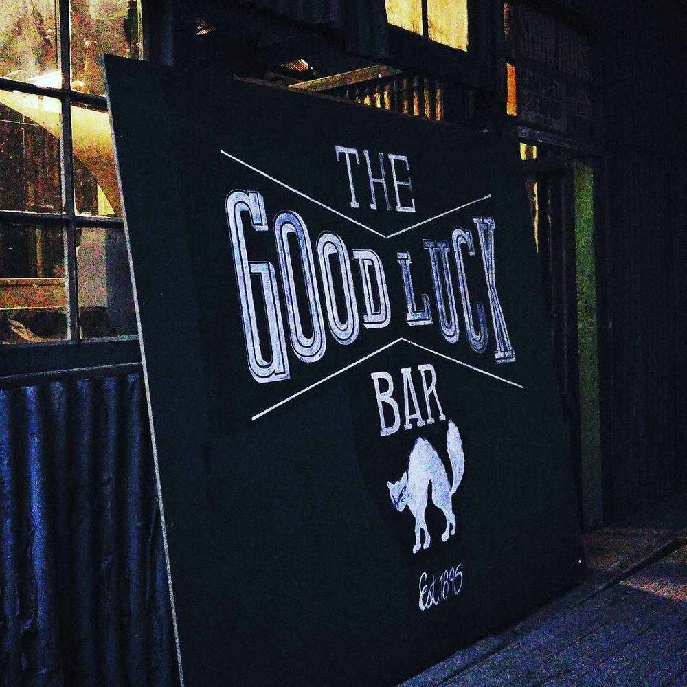 GOOD MUSIC + GOOD FOOD = GOOD VIBE   @the_goodluckbar