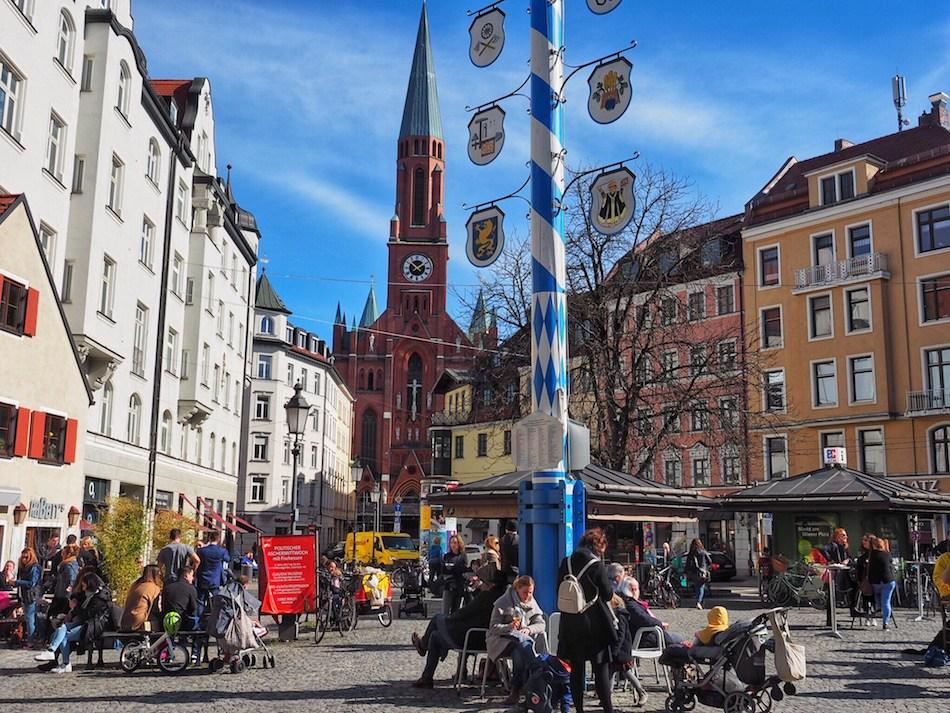 Haidhausen-Wienerplatz-Bavarian-May-pole-church-Munich-Germany.jpg