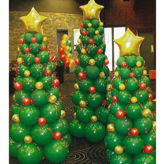 christmas balloon art diy holiday party decorations rh blog goparties com balloon decoration ideas for christmas