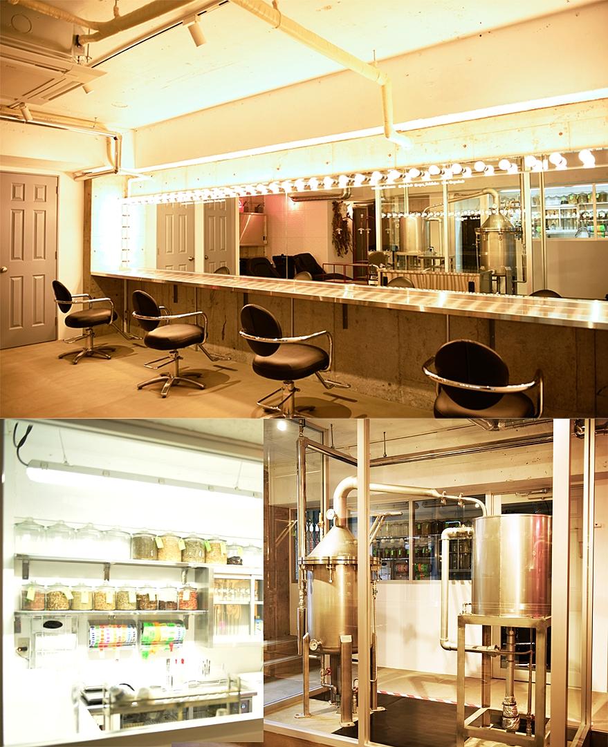 EPO Hair studio - EPO HAIR STUDIOはSALON,ESSENTIAL OIL FACTORY,LABOの3つからなる空間